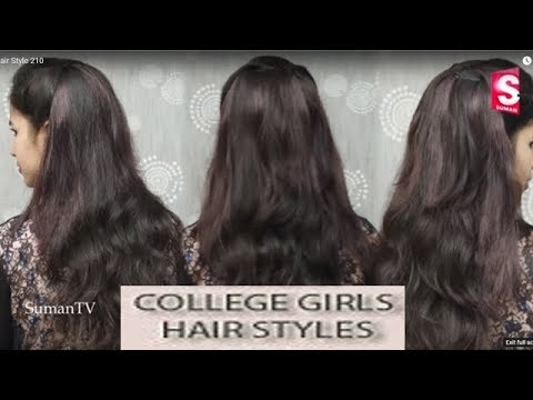 Easy and Simple Hairstyle for college girls For Medium  Length Soft Hair .