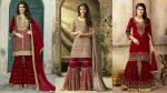 Latest Fancy Red Sharara Dresses — Designer Sharara Suit