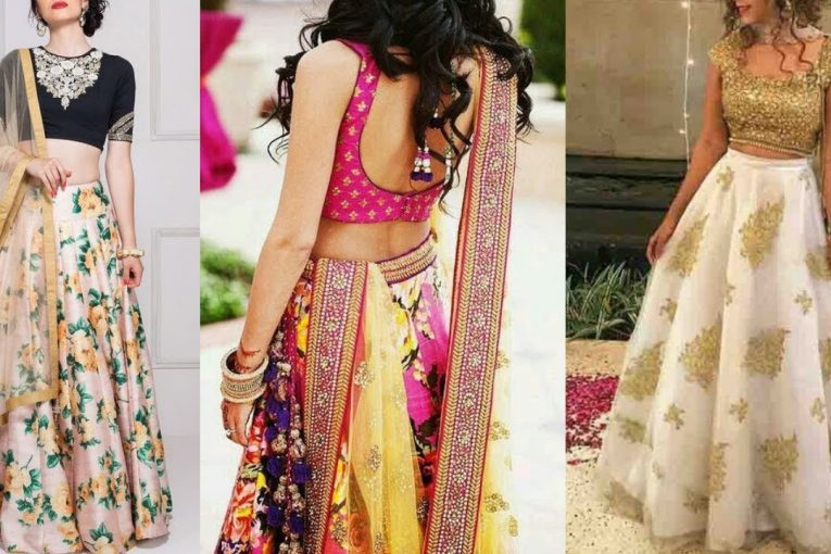 Top Girlish Lehenga Crop Top Designs || Lehenga Crop Top Designs For Wedding Guest