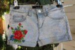 Шорты из старых джинс.Украшение вышивкой. / DIY. Handmade.How to make jeans into shorts