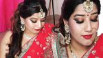 Diwali makeup and hairstyle for Red/ Pink saree, suit, Lahnga