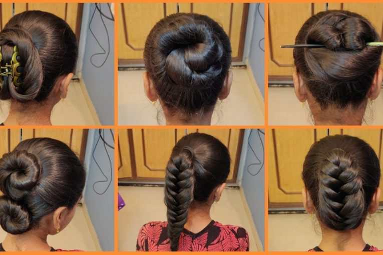6 Simple Different Bun Hairstyles | How to Bun | Hairstyle Tutorial