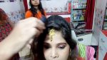 How to set maang tikka / Four roll bun simple and easy hairstyle