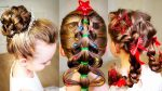 7 Easy & Cute Christmas hairstyles! 7 Simple Holiday Hairstyles Tutorial.  Quick hairstyles!