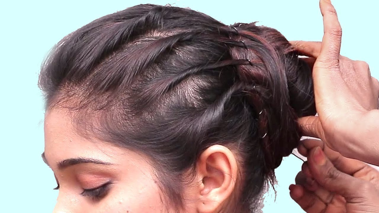 Easy Everyday Side Puff Hairstyle | Hair style girl | Beautiful Puff Hairstyles || Hairstyles