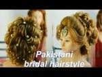 bridal hairstyle in india || hindu bridal hairstyle || pakistani mix hairstyle || bridal bun | easy