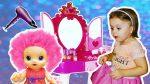 Кукла Соня хочет быть красивой. Baby Alive делает макияж и новые прически в салоне красоты