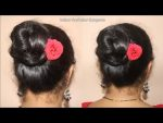 Beautiful Bun Hairstyle for Valentines Day || Hair Style Girl || hairstyles for girls || hairstyles
