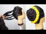 5 minutes easy wedding hairstyle with trick || new juda hairstyle for party || hair style girl
