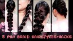 Everyday Easy Braiding Hairstyles For Medium And Long Hair//Quick Back to school hairstyles