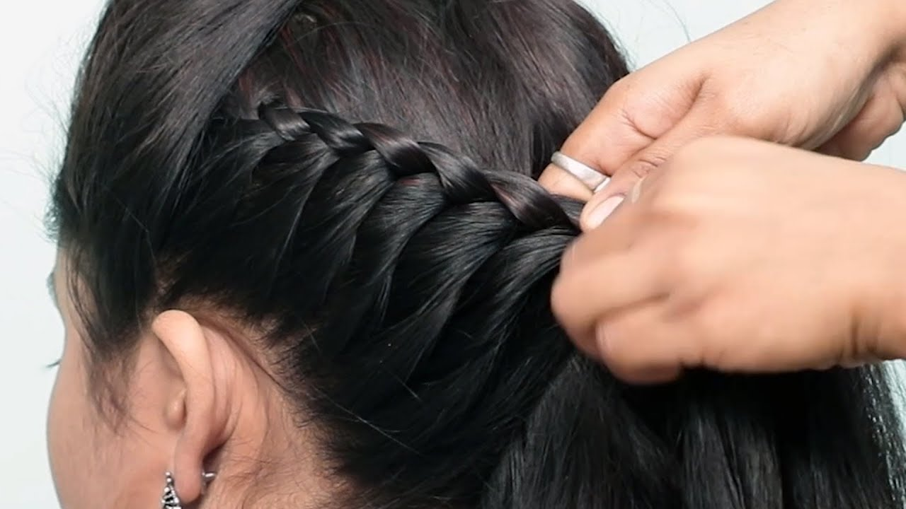 Beautiful Hairstyles for wedding/party/function   cute hairstyles   Hair style girl