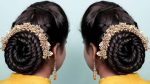 Very Easy Hairstyles for Sarees 2019 | Braided Hairstyles | New hairstyle | Easy hairstyles 2019