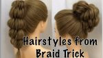 Beautiful Wedding Hairstyles for Girls | Bun From Braid HAIRSTYLE