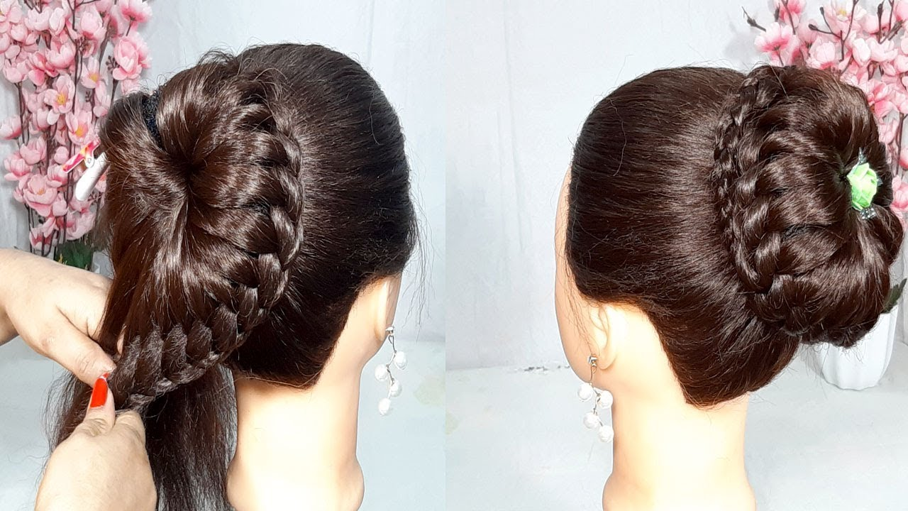 new bun hairstyle trick for wedding and party | hair style girl | party hairstyle | updo hairstyle