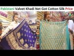 Pakistani Fancy Unstitched Dresses Khaadi Net Cotton Silk Valvet Embroidery Banarsi Gota With Price