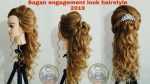 Latest sagan engagement look hairstyle 2019/open , simple Elegant hairstyle for wedding/ open style