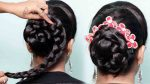 Juda hairstyle for Wedding/party    Perfect Bridal Bun    Hairstyles girl    Wedding guest hairstyle