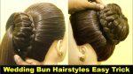 Beautiful New Bun Wedding Juda Hairstyle | High Ponytail with Bun Juda | KGS Hairstyles
