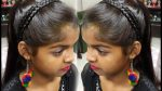 2 Very Simple & Easy Self Hairstyles for Girl's. Hairstyle Girl. Self Hairstyles at home.