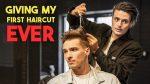 I Just Gave My FIRST HAIRCUT EVER | BluMaan Mens Haircut 2019