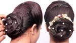 new french bun hairstyle with using clutcher || beautiful hairstyle || prom hairstyles || hairstyles