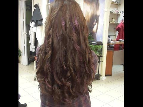 Hairstyle: Фиолетовые пряди/purple streaks. Прическа