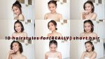10 EASY HAIRSTYLES FOR (REALLY) SHORT HAIR | SAROCHA B