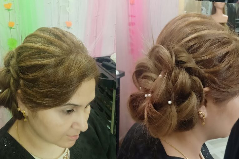 hair style for wedding party || side bun hairstyle for short hair
