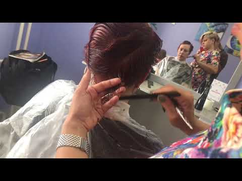 Ультра модная женская стрижка на короткие волосы