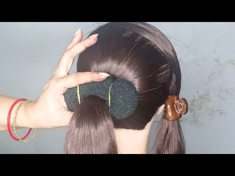 New Style Updo Braid  Bun Hairstyles! Latest Updo Hairstyle for Wedding ! Very Easy Hairstyle Bun