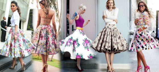С чем носить цветочную юбку солнце?